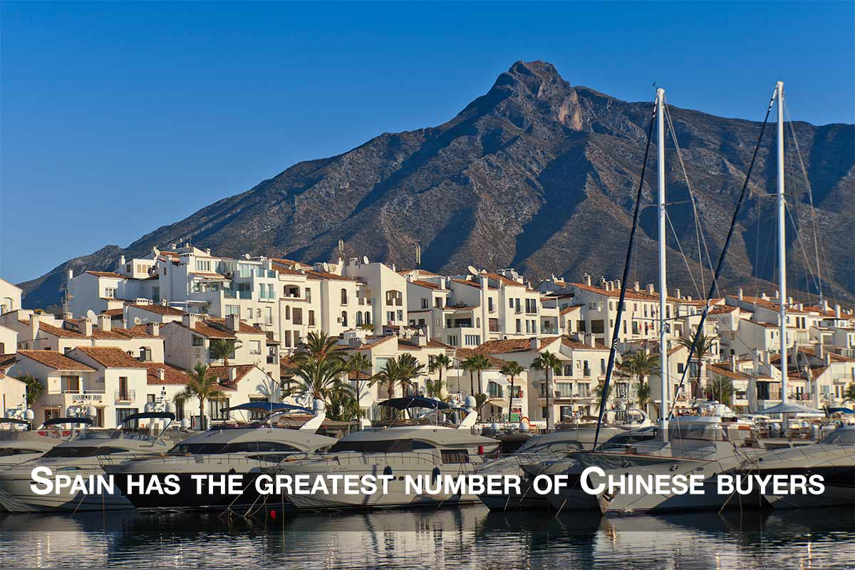 Spain has the greatest number of Chinese buyers